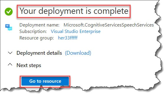 azure speech service configuration