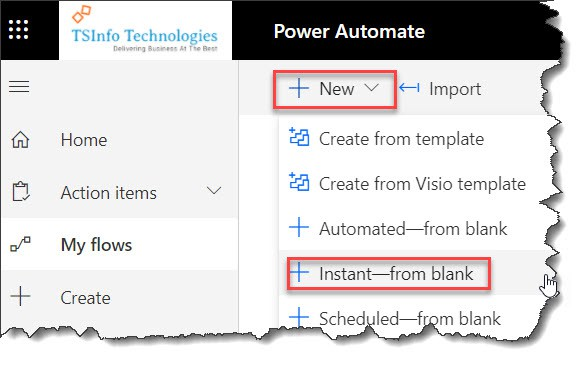 call azure function from ms flow