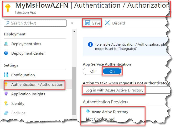 call azure function from power automate (ms flow) with oauth