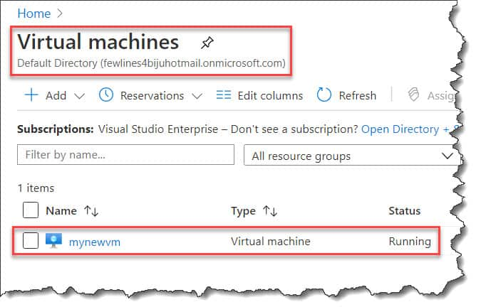 how to find ip address of azure vm