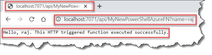 run powershell azure function locally visual studio code