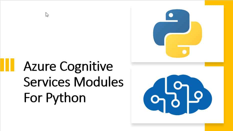 Azure Cognitive Services Modules For Python