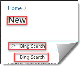 Create Azure Cognitive Services Bing Search API