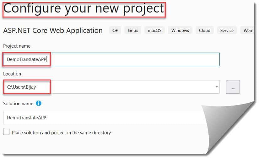 Create a Microsoft Translator Text API Azure Portal