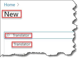 Create a Translator Text API using Azure Portal