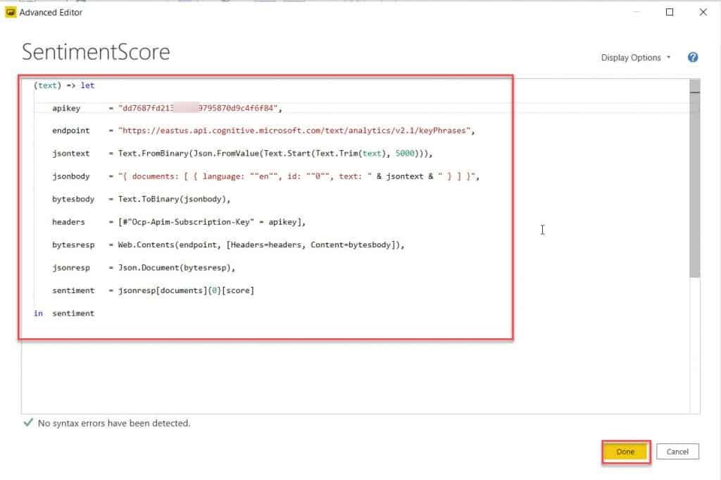 How To configure Text Analytics In Power BI