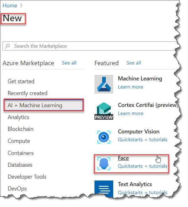 How to Create The Face API On Azure Portal