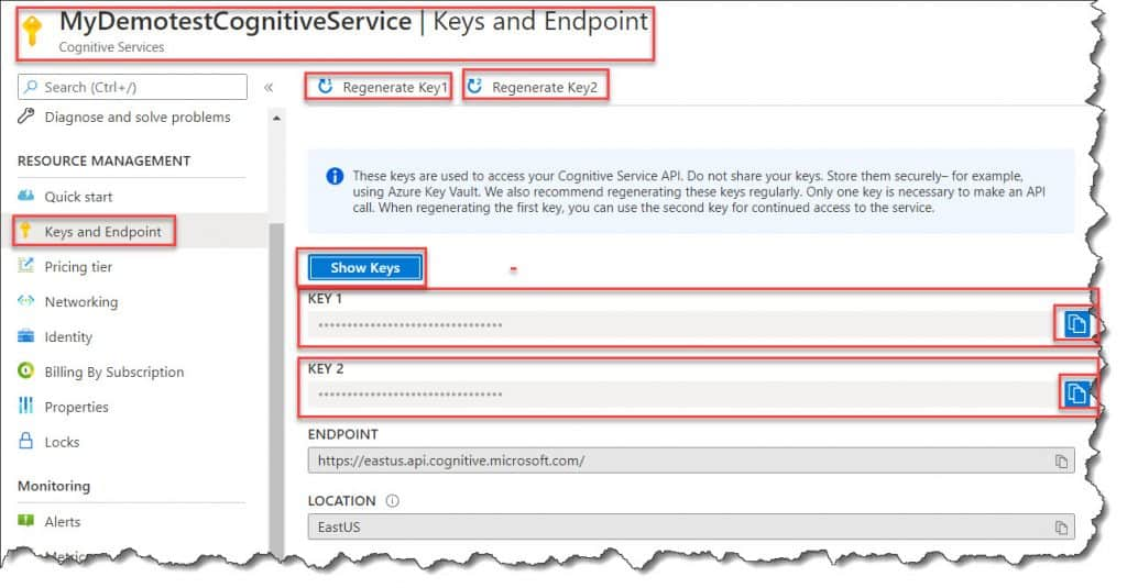 How to get the Subscription Key For Microsoft Cognitive Services