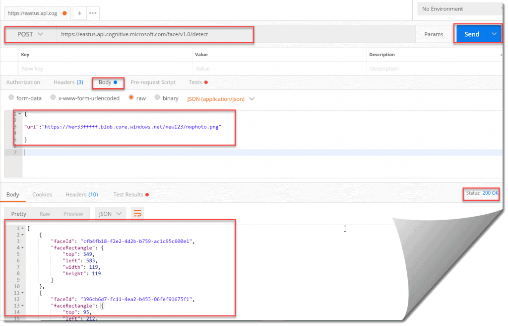 How to test Microsoft Azure Face API