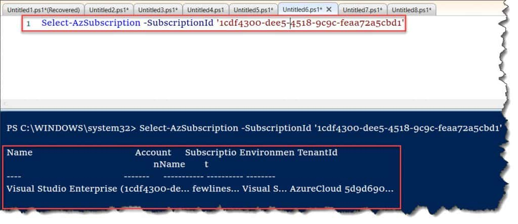 Select-AzureSubscription is not recognized