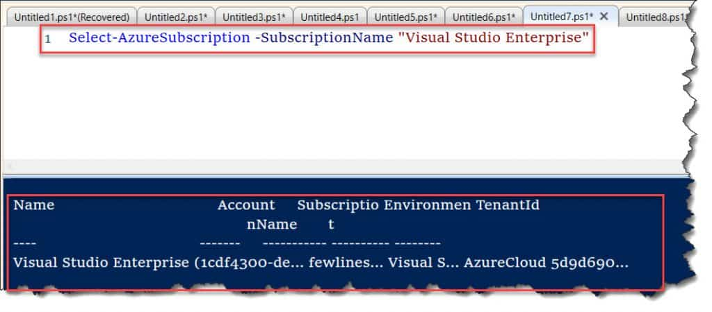 The term 'Select-AzureSubscription' is not recognized