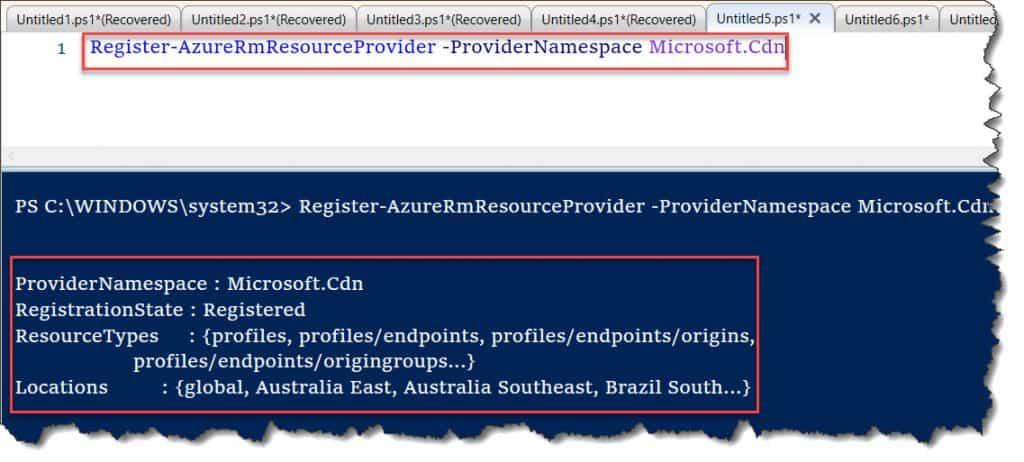 register-AzureProvider The term 'register-AzureProvider' is not recognized