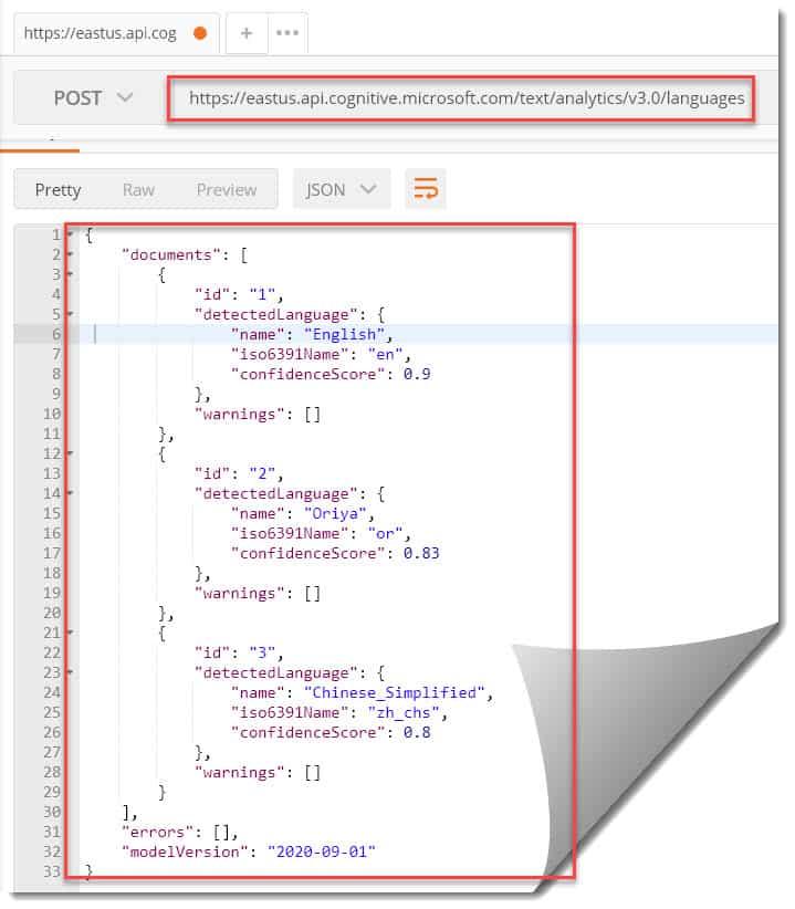 Microsoft Azure Machine Learning Text Analytics API