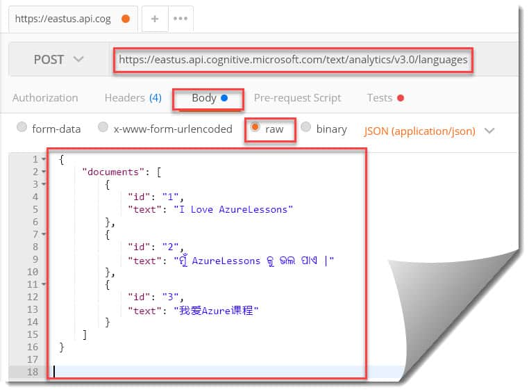 azure text analytics language detection