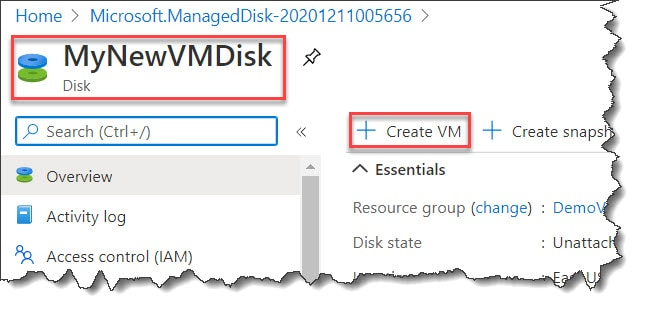 Creating And Restoring Azure Virtual Machine Snapshots For Managed Disks