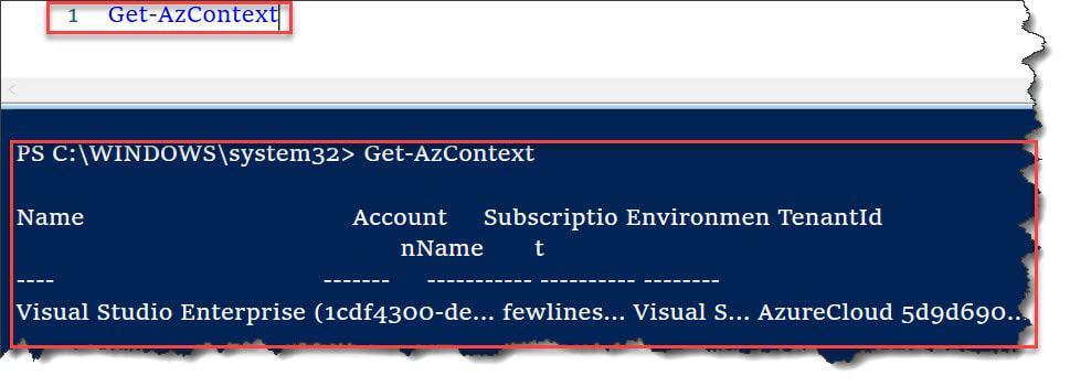 Get-AzContext