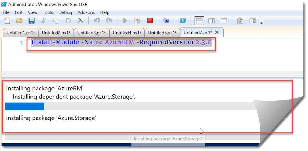 How to Install AzureRM module PowerShell