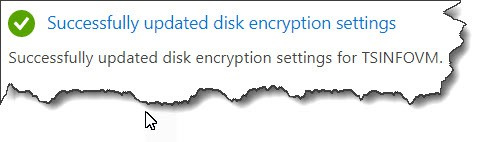 Set azure policy disk encryption