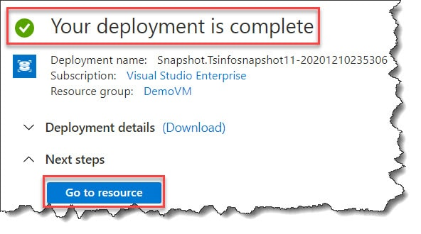 azure create disk from snapshot