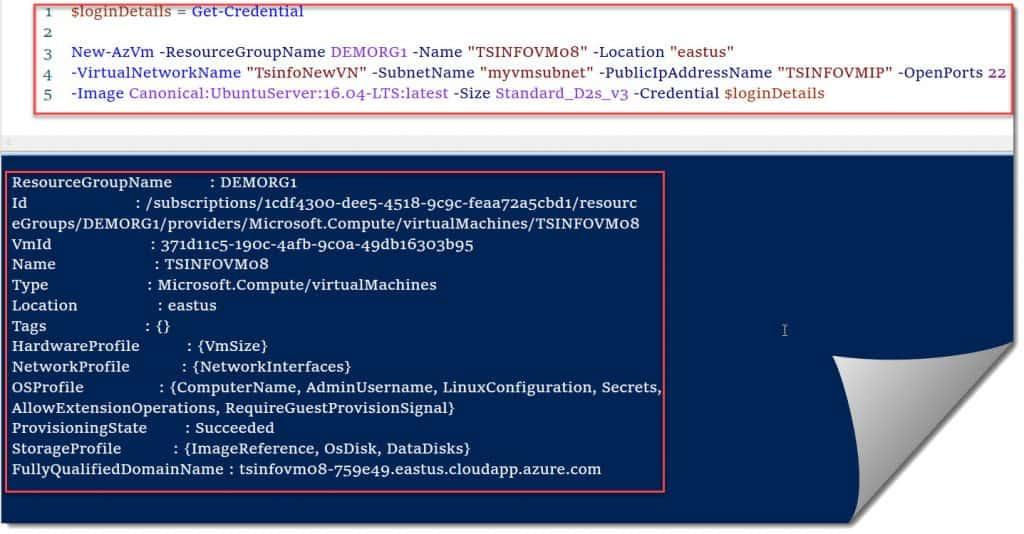 azure disk encryption linux powershell quickstart