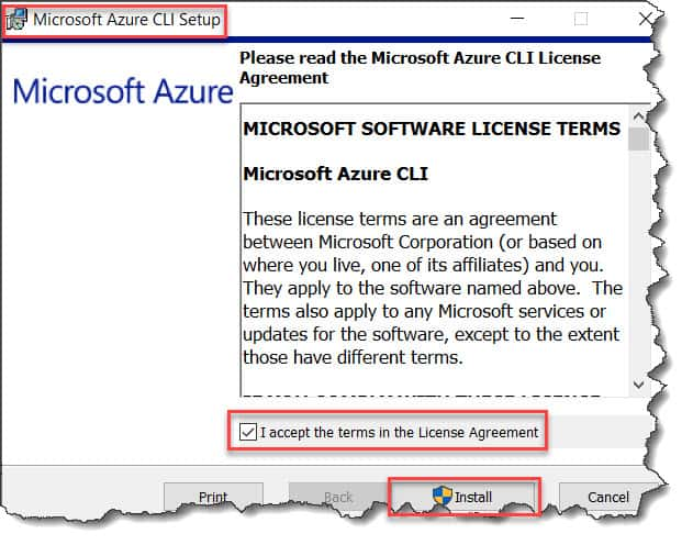 install azure cli on windows without admin rights