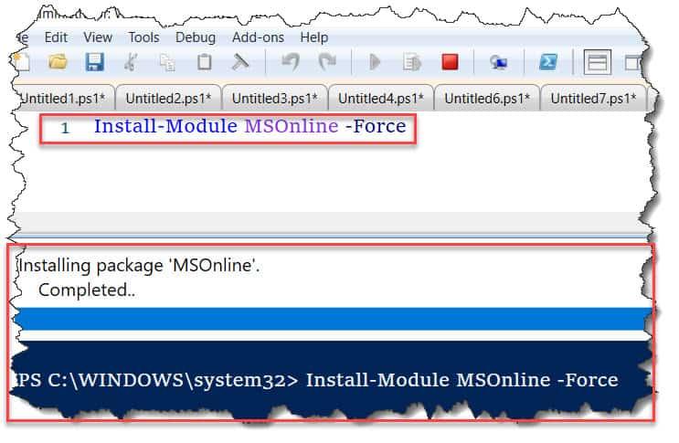 install module msonline