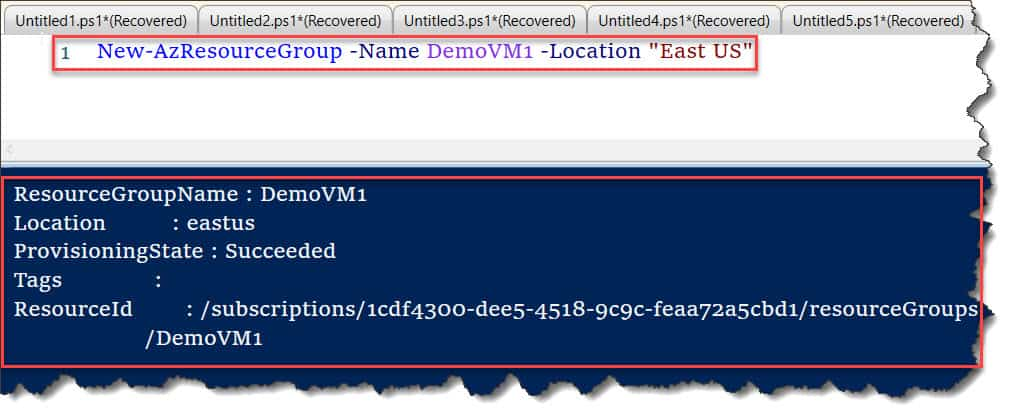 powershell move vm to resource group
