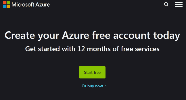 If you aren't eligible for the Azure for students plan then you can sign up for the Microsoft Azure free account