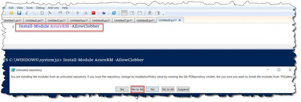 the specified module azurerm profile was not loaded because no valid module