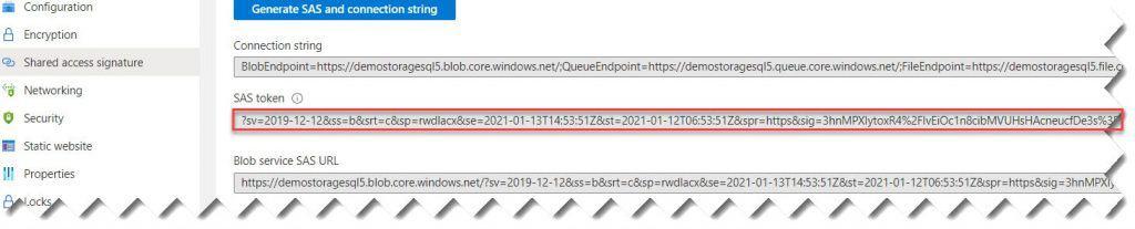 Azure sql server backup to Azure blob
