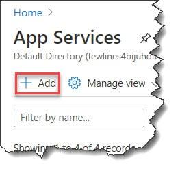 Create a Website Using the Azure Portal