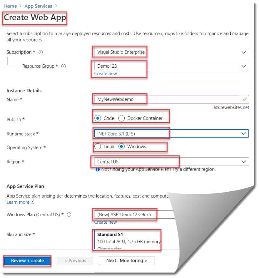 Create a Website from the Azure Portal