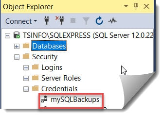 How to Create A SQL Server Credential