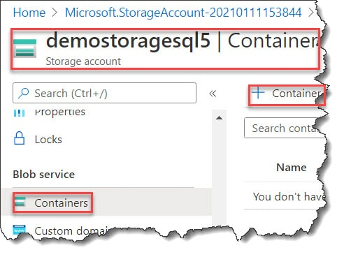 How to Create Azure Blob container