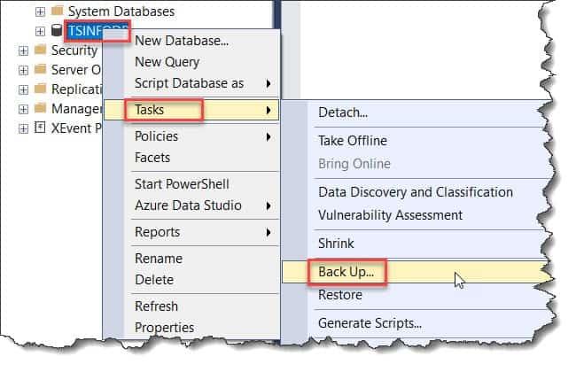 How to take Azure SQL DB Backup using Back Up Database wizard
