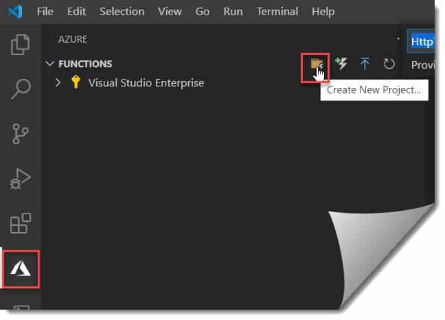 Create the Azure Function Project using Visual Studio Code