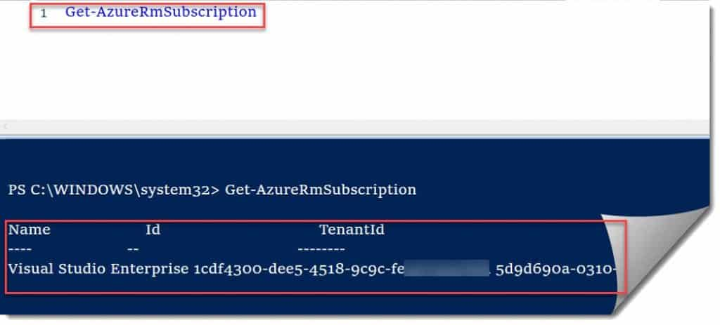 Get-azurermsubscription PowerShell cmdlet