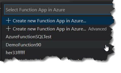 How To Deploy Typescript Azure Function To Azure from Visual Studio Code