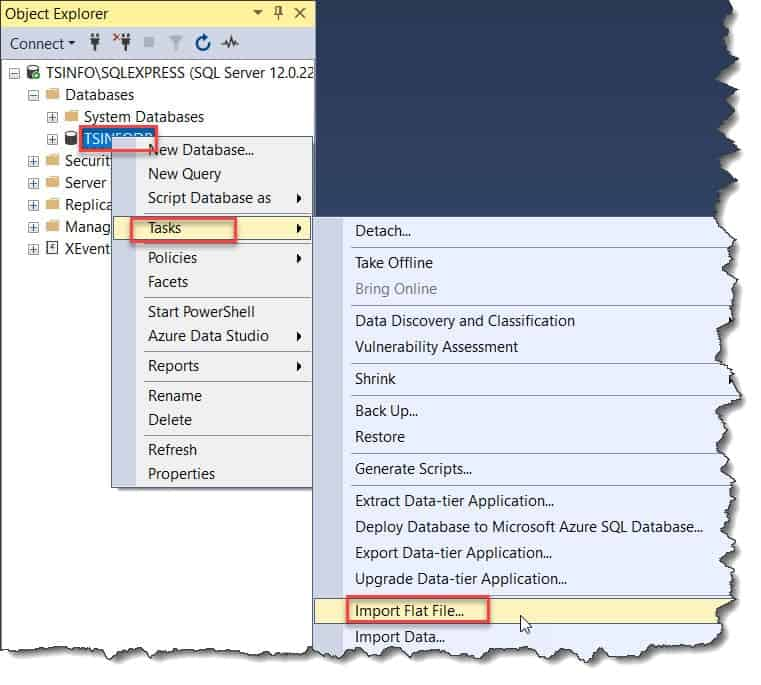 Import Data Into Azure SQL Database Using the Flat File Wizard