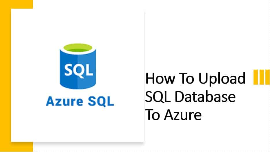 Upload SQL Database To Azure