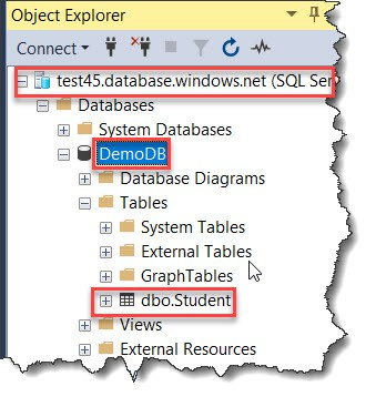 Create a Table In Azure SQL Database