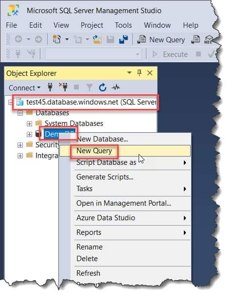 How To Create Tables In SQL Azure Database