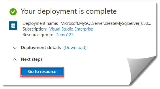 How to Create Azure Database for MySQL by using Azure Portal