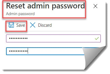 How to reset password for azure sql database