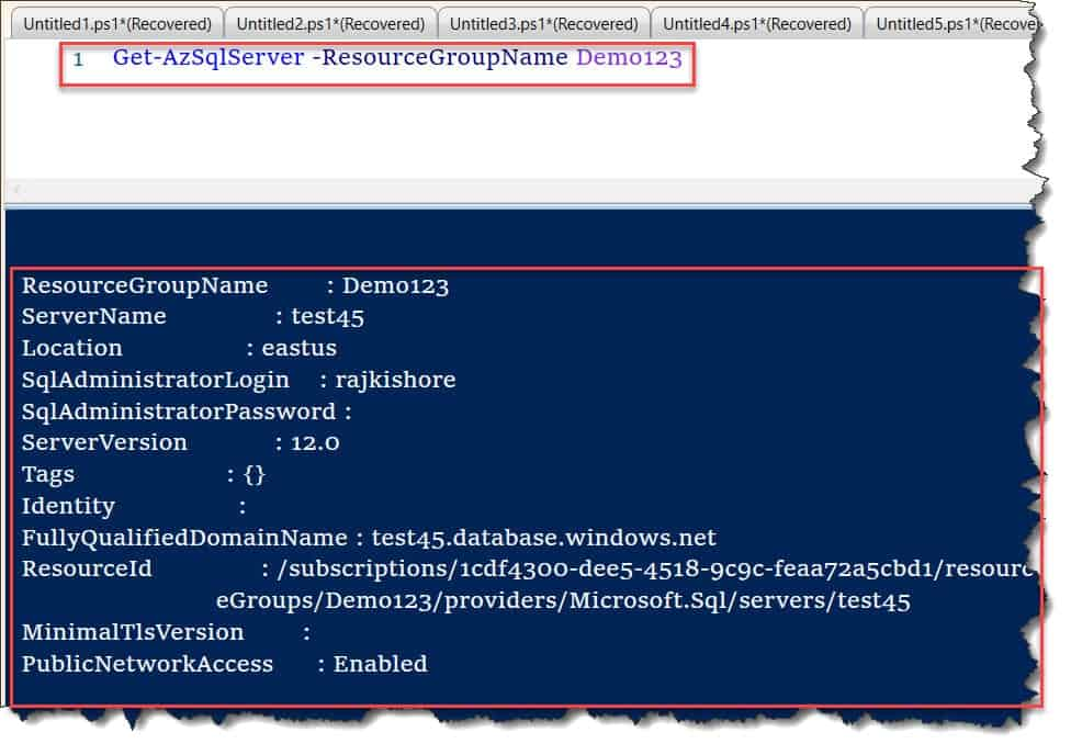 Powershell Connect To Azure SQL Database