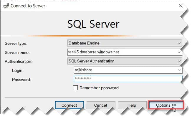 SQL Azure Create Login Default Database