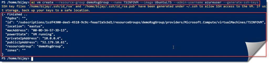 Create Linux VM Using Azure CLI