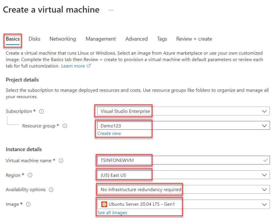 Create a Linux virtual machine in the Azure portal