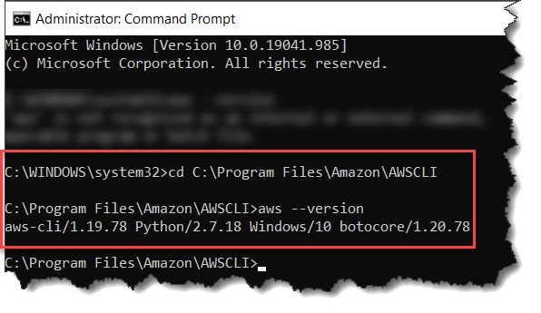 How To Confirm The AWS CLI Installation