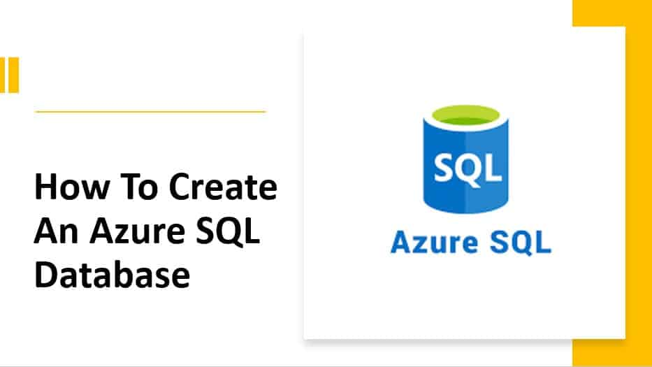 How to create an Azure SQL database
